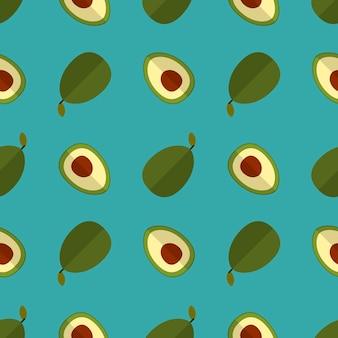 Patrón de manzana en verde