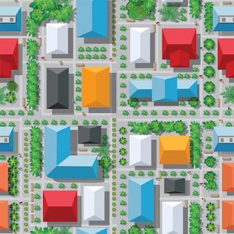 Patrón de mapa de la ciudad perfecta