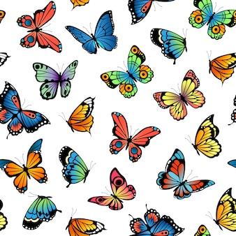 Patrón de mariposas decorativas