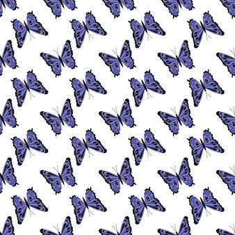 Patrón de mariposas. fondo transparente abstracto.