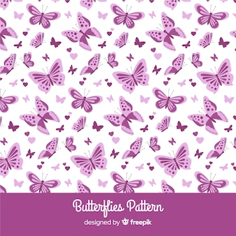 Patrón mariposas planas