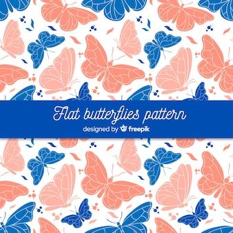Patrón mariposas realistas