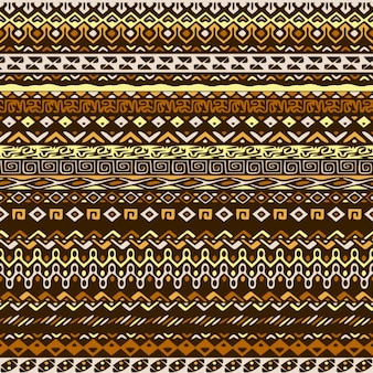 Patrón marrón de formas étnicas