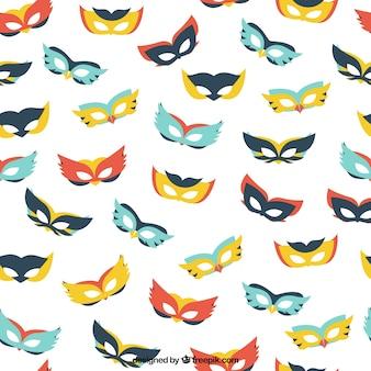 Patrón de máscaras de colores