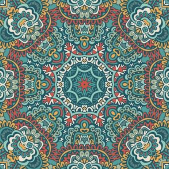 Patrón de medallón de paisley floral indio