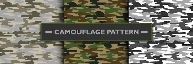 Patrón militar de camuflaje, ilustración vectorial