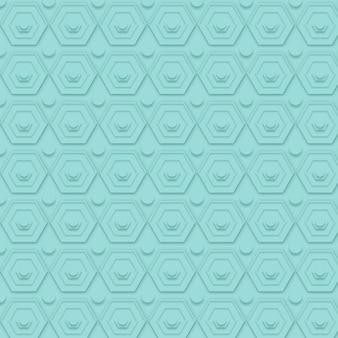 Patrón minimalista azul con formas