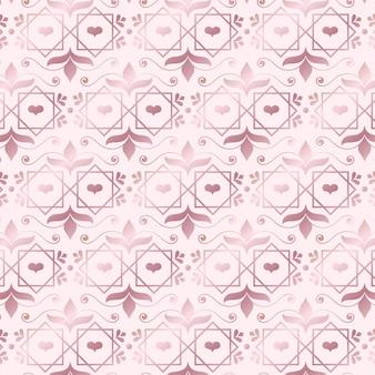 Patrón moderno art deco de oro rosa