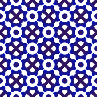 Patrón moderno azul y blanco