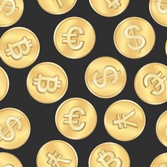 Patrón de monedas de pago de dinero transparente