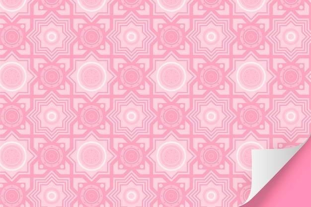 Patrón monocromático rosa pálido con formas