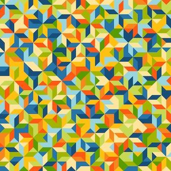 Patrón de mosaico abstracto