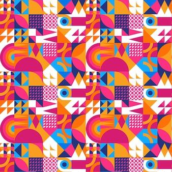 Patrón de mosaico colorido de diseño plano
