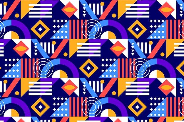 Patrón de mosaico colorido plano