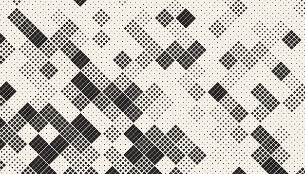 Patrón de mosaico de cuadros caóticos sin costura