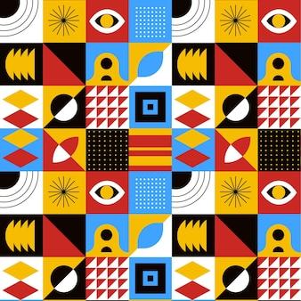 Patrón de mosaico de diseño plano