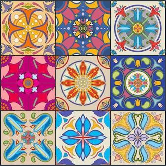 Patrón de mosaico sin fisuras de mosaico de pared vector