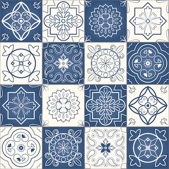 Patrón de mosaico inconsútil