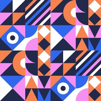 Patrón de mosaico plano
