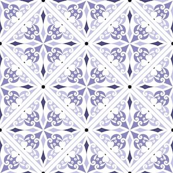 Patrón de mosaico vintage transparente