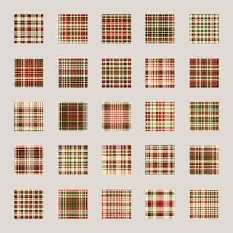 Patrón de navidad sin costuras. compruebe el efecto de la textura de la tela a cuadros. establecer fondo de vacaciones, papel de regalo, funda de regalo.