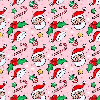 Patrón de navidad divertido colorido