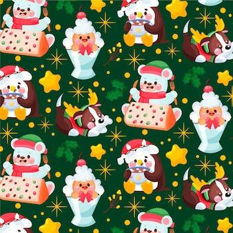 Patrón de navidad divertido