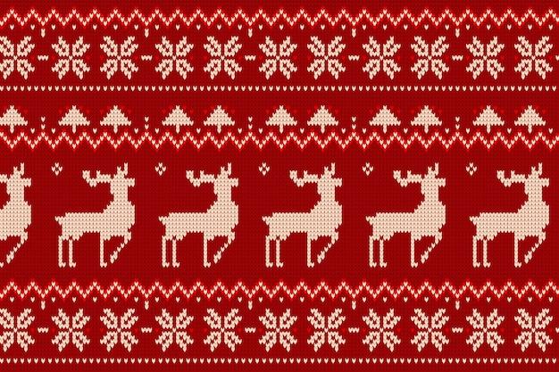 Patrón de navidad de punto