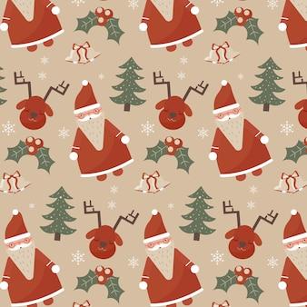 Patrón de navidad vintage