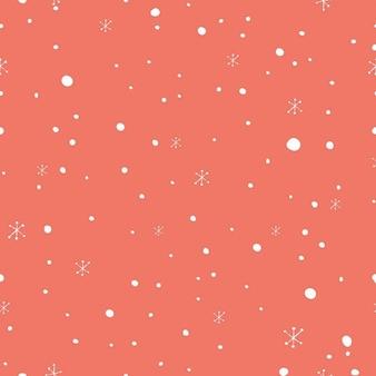 Patrón navideño con nieve