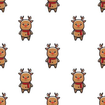 Patrón navideño con renos
