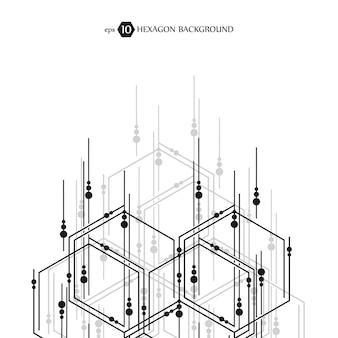 Patrón de negocio hexagonal. investigación médica científica.