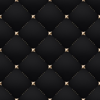 Patrón negro oscuro de lujo sin costuras