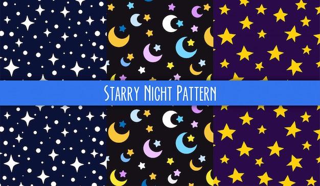 Patrón de la noche estrellada