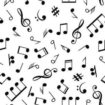 Patrón de notas musicales.