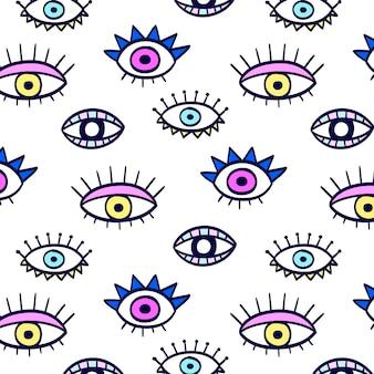Patrón de ojos coloridos