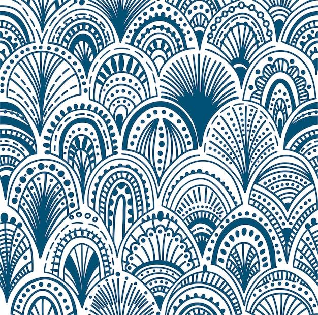 Patrón de onda abstracto sin fisuras