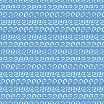 Patrón de ondas. ilustración náutica y de verano. fondo geométrico abstracto