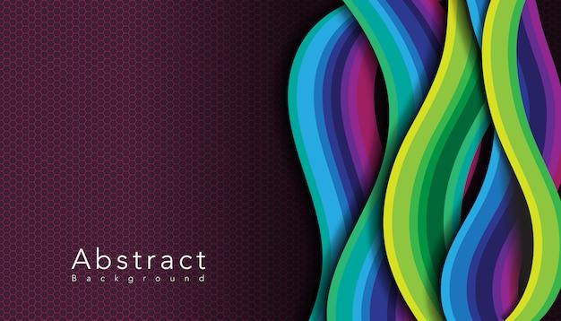Patrón ondulado multicolor con panal