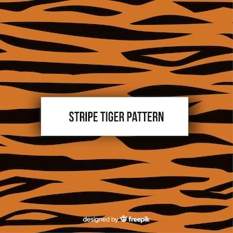 Patrón original de tigre con diseño plano