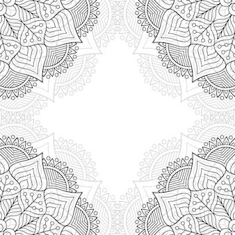 Patrón ornamental blanco y negro.
