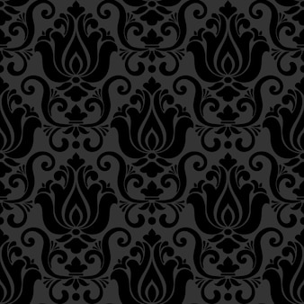 Patrón ornamental estilo damasco