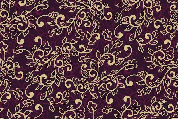 Patrón ornamental floral