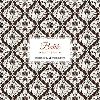 Patrón ornamental de flores batik