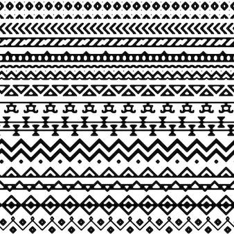 Patrón ornamental de formas aztecas