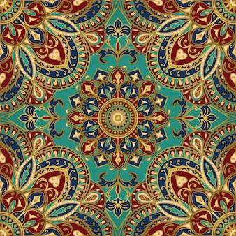 Patrón ornamental con mandala.