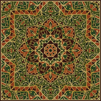 Patrón ornamental verde
