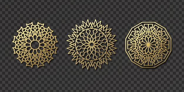 Patrón de ornamento árabe aislado realista