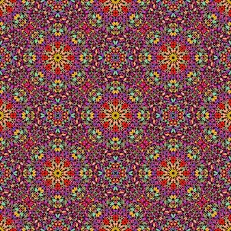 Patrón de ornamento floral abstracto bohemio inconsútil