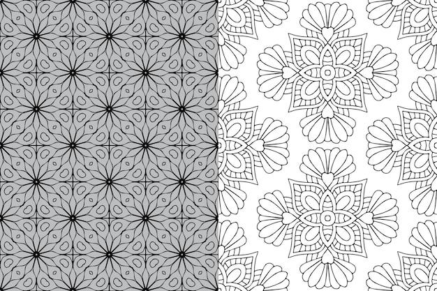 Patrón de ornamento de mandala. elementos decorativos vintage